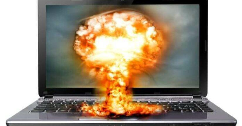 Laptop Exploding