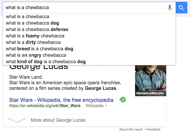 George Lucas Google Search